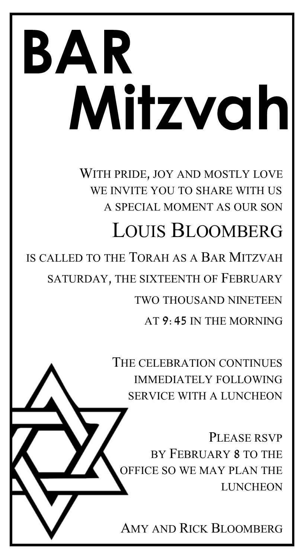 LouisBloombergBarMitzvah