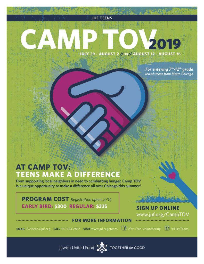 Camp TOV 2019 Flyer